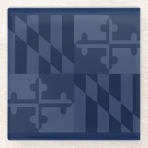Maryland Flag Monochromatic coaster - navy blue