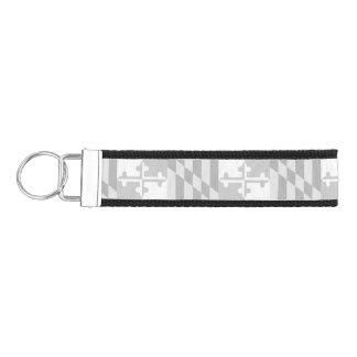 Maryland Flag Monochromatic keychain-*CUSTOMIZABLE Wrist Keychain