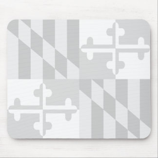Maryland Flag Monochromatic mouse pad-CUSTOMIZABLE Mouse Pad