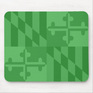 Maryland Flag Monochromatic mouse pad - green