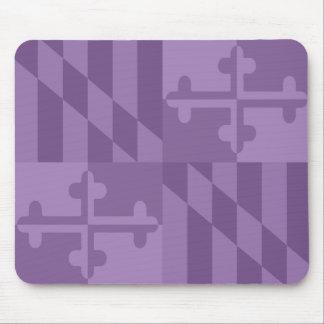 Maryland Flag Monochromatic mouse pad - lavander