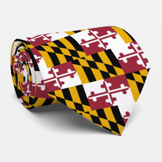 Maryland Flag Neck Tie