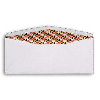 MARYLAND Flag Pattern Envelopes
