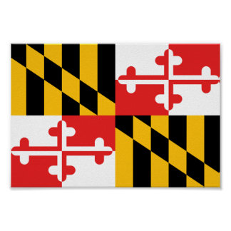 Maryland Flag Poster