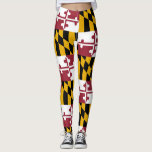 "Maryland Flag Pride Leggings Yoga Pants<br><div class=""desc"">Show people how much you love your state flag by walking around town in it all day! Don&#39;t forget March 25th is Maryland Day!</div>"