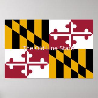 Maryland Flag Print