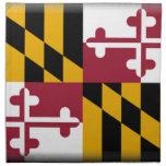 Maryland Flag Printed Napkins