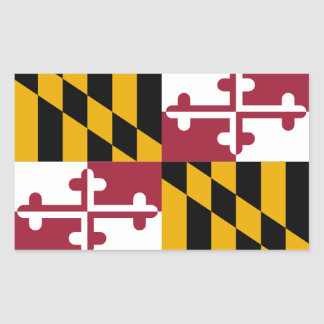 Maryland Flag Rectangle Sticker