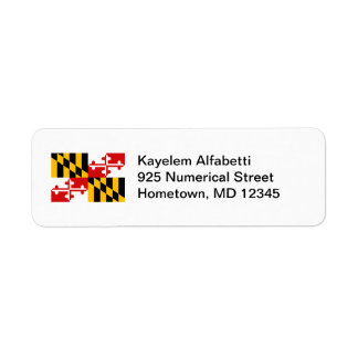 Maryland Flag Return Address Label
