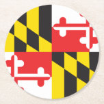 "Maryland Flag Round Paper Coaster<br><div class=""desc"">The flag of Maryland</div>"