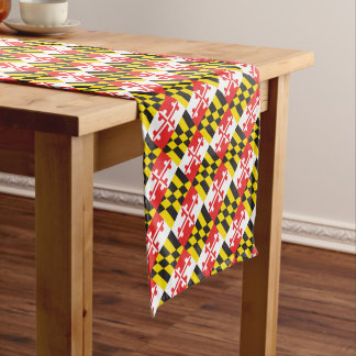 Maryland Flag Short Table Runner
