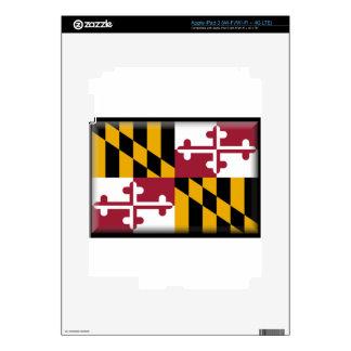 Maryland Flag Decals For iPad 3