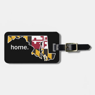Maryland Flag/State home luggage tag