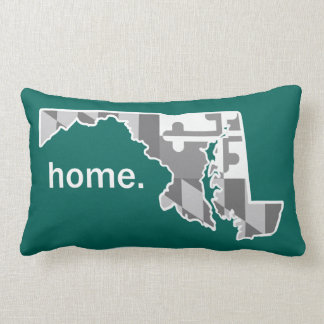 Maryland Flag/State home pillow - dark teal