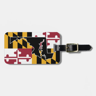 Maryland Flag/State luggage tag