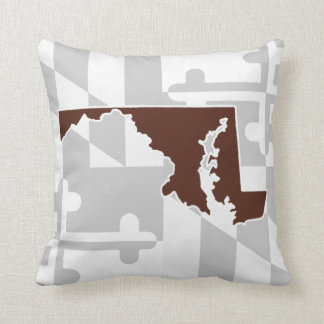 Maryland Flag/State pop of color - chocolate Throw Pillow