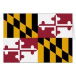 Maryland Flag Stationery Note Card