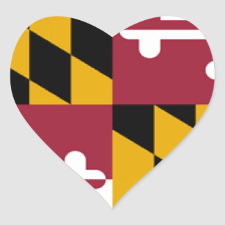 Maryland Flag Heart Sticker