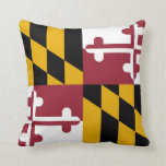 Maryland Flag Throw Pillows