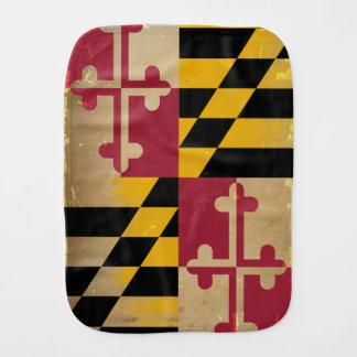 Maryland Flag VINTAGE.png Baby Burp Cloth