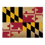 Maryland Flag Vintage.png Postcard at Zazzle