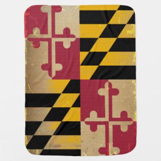 Maryland Flag VINTAGE.png Receiving Blanket