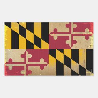 Maryland Flag VINTAGE.png Rectangular Sticker