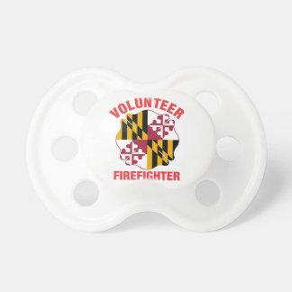 Maryland Flag Volunteer Firefighter Cross Pacifier