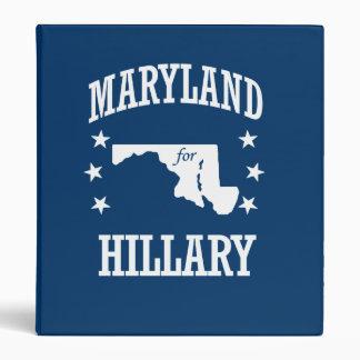 MARYLAND FOR HILLARY VINYL BINDERS