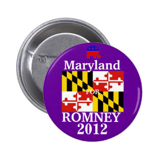 Maryland for Romney 2012 2 Inch Round Button