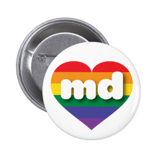 Maryland gay pride rainbow heart - mini love button