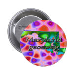 Maryland Geoswag Swags Geocaching Gifts Treasure Pinback Buttons