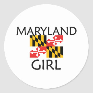 MARYLAND GIRL CLASSIC ROUND STICKER