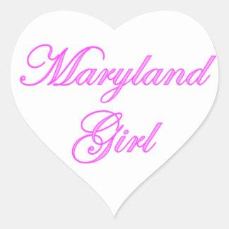Maryland Girl Heart Sticker