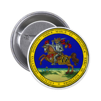 Maryland Great Seal 2 Inch Round Button