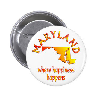 MARYLAND Happiness 2 Inch Round Button