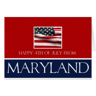 Maryland Happy 4th of July Card