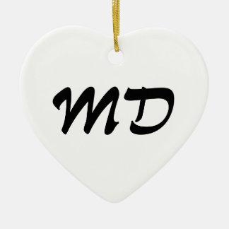 Maryland Heart Ornament