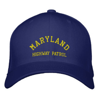 MARYLAND, HIGHWAY PATROL EMBROIDERED HAT