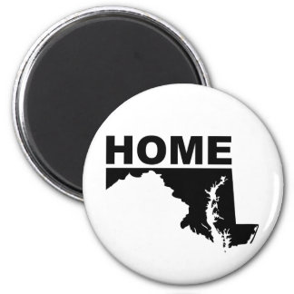 Maryland Home Away From State Fridge Magnet