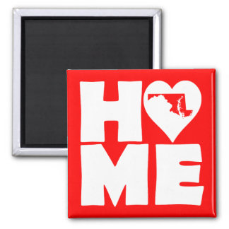 Maryland Home Heart State Fridge Magnet