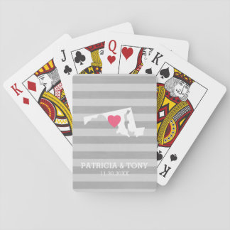 Maryland Home State Love with Custom Heart Playing Cards