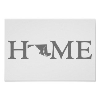 Maryland Home State Poster