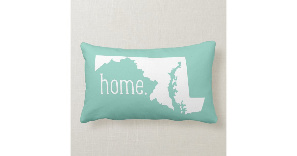 Maryland Home State Throw Pillow Zazzle