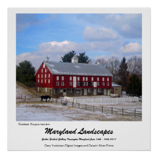 Maryland horse farm poster