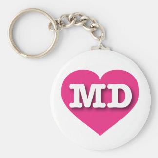 Maryland Hot Pink Heart - Big Love Keychain