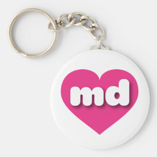 Maryland hot pink heart - mini love keychain