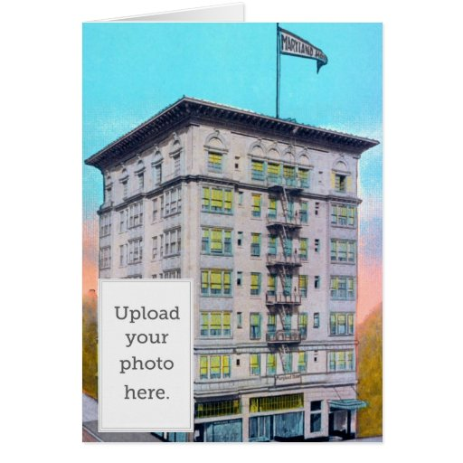 Maryland Hotel, Geary & Taylor St., St. San Franci Greeting Card