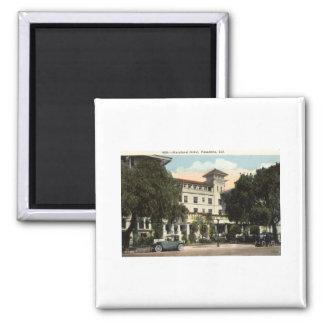 Maryland Hotel, Pasadena CA c1920s 2 Inch Square Magnet
