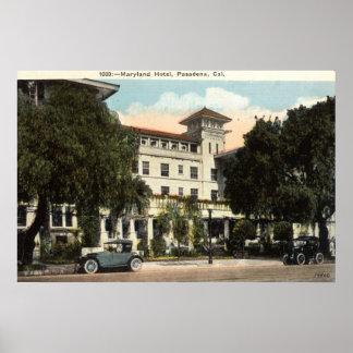 Maryland Hotel, Pasadena CA c1920s Poster